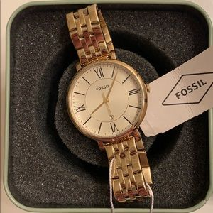 NWT Gold Fossil Watch